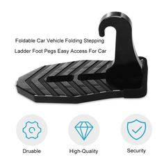 ThisMultifunction Car Rooftop Doorstepgives you swift and easy accessto the roof of your car. Easily climb and reach the roofof your car with the Car Doorstep! This latch doorstep willassist you in reaching or storing bulky itemson your car roofwith ease X Car, Car Vehicle, In Case Of Emergency, Center Console, Roof Rack, Aluminium Alloy, Easy Access, Rooftop, Kayaking