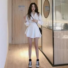 Kpop Fashion Outfits, Girls Fashion Clothes, Stage Outfits, Mode Outfits, Girly Outfits, Cute Casual Outfits, Stylish Outfits, Fashion Dresses, Korean Outfit Street Styles