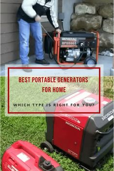 Gas powered inverter, solar powered, or standby? Read our guide to learn all about pros and cons for the best portable generator for home. via @powertoolsninja Best Portable Generator, Generator Box, Abeka Homeschool, Generation Game, Home Id, Homemade 3d Printer, Kindergarten Science, Home Improvement Projects, Solar Power