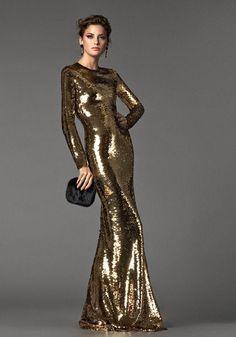 GOLD & BEIZE PRINTED DRESS