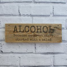 reclaimed wood wooden sign. funny signs rustic by Pepperwoodandco