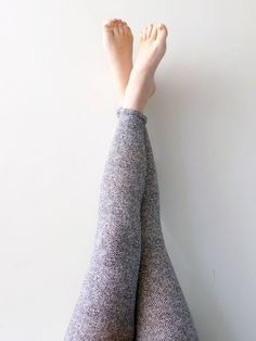 Great gift for daughter. Cosy and warm printed leggings for women / black white leggings – a unique product by Sheeebz via en.DaWanda.com #grey
