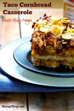 Quick and Easy, Vegan Taco Cornbread Casserole | Namely Marly