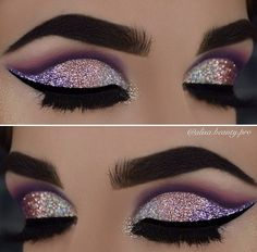 Beautiful glitter cut crease with Eye Kandy  www.eyekandycosmetics.com