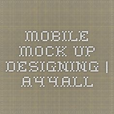 Mobile Mock Up Designing