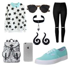 """""""Untitled #602"""" by giselaturca on Polyvore featuring Candie's, Vans, Christian Dior, LA: Hearts, Child Of Wild, women's clothing, women, female, woman and misses"""