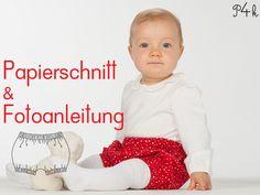 Papierschnitt Baby Pumphose Modell Elisa von pattern4kids auf DaWanda.com