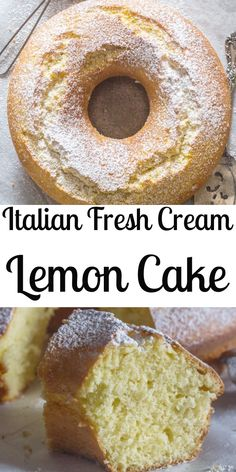 kuchen ideen Italian Fresh Cream Lemon Cake recipe,an easy made from scratch, the perfect homemade breakfast, snack cake. An Italian sweet cake. Lemon Desserts, Lemon Recipes, Just Desserts, Baking Recipes, Dessert Recipes, Dessert Blog, Cream Lemon, Fresh Cream, Italian Lemon Cake