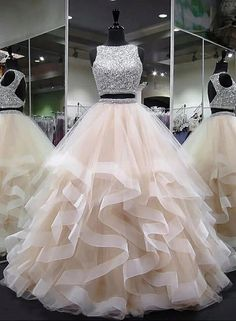 Plus Size Prom Dress, round neck tulle long prom dress, ball gown Shop plus-sized prom dresses for curvy figures and plus-size party dresses. Ball gowns for prom in plus sizes and short plus-sized prom dresses Cute Prom Dresses, Sweet 16 Dresses, Tulle Prom Dress, 15 Dresses, Ball Dresses, Elegant Dresses, Pretty Dresses, Homecoming Dresses, Evening Dresses