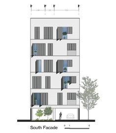 Edifício Residencial Andarzgoo,Elevação