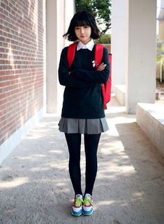 Asian school uniform