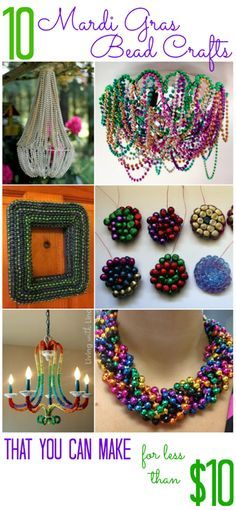 10 Ways to Repurpose Your Mardi Gras Beads (for less than $10) - All Cheap Crafts