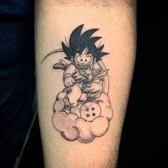 First tattoo! Kid Goku on Nimbus by Ray Vazquez Private Studio in Los Angeles CA Z Tattoo, Forarm Tattoos, Baby Tattoos, Body Art Tattoos, Sleeve Tattoos, Tatoos, Cartoon Tattoos, Anime Tattoos, Small Tattoos For Guys