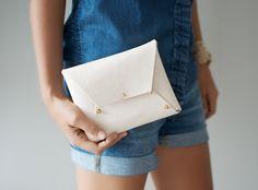 DIY Leather Clutch (2) by apairandaspare, via Flickr