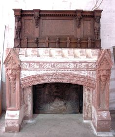Carved Gothic Fireplace Mantel from a New York Estate | From a unique collection of antique and modern fireplaces and mantels at https://www.1stdibs.com/furniture/building-garden/fireplaces-mantels/