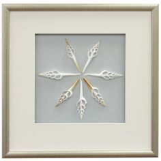 Spindle Shell Framed Wall Decor