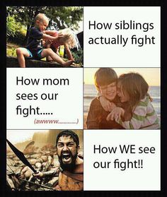 How siblings actually fight.