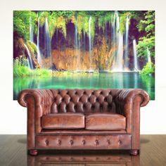 Tropical Waterfall Adhesive Print