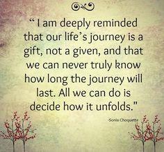 Life's journey quote via www.YourBeautifulLife.org