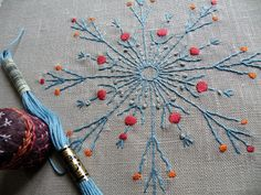Nancy Nicholson pattern for whipped running stitch-- Lovely Snowflake