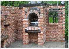 Grille ogrodowe, wędzarnie, piece chlebowe, piece do pizzy :: Grillbud Brickwork, Grilling, Garage Doors, Patio, Outdoor Decor, Gardening, Home Decor, Brick, Naked