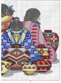 0 point de croix femmes péruviennes - cross stitch peruvian women 2