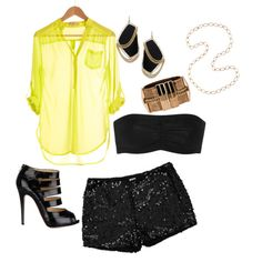 citron and sequins, created by kristiehagen on Polyvore