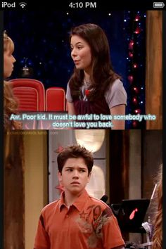 One look says it all. I feel kinda bad for Freddie. On the bright side it's not real just a TV show. So yay for iCarly existing.