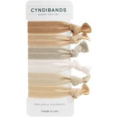 CyndiBands Set of 6 Hair Ties, Blonde 6 ea (29 BRL) ❤ liked on Polyvore featuring beauty products, haircare, hair styling tools, hair, accessories, fillers, hair accessories and beauty