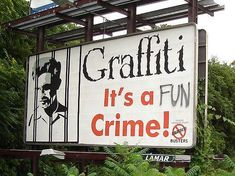 Personally, I don't think it should be a crime at all. I mean, defacing the front of someones business is one thing, but creating art in an alley, or under an overpass? Nothing wrong with that.