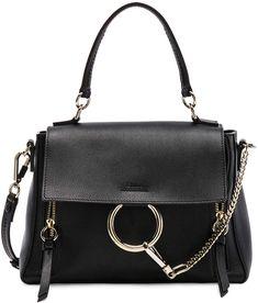 Shop for Chloe Small Faye Day Bag Calfskin & Suede in Black at FWRD. Chloe Purses, Faye Bag, Types Of Bag, Shoulder Handbags, Shoulder Bags, Coach Handbags, Evening Bags, Timeless Fashion, Fendi