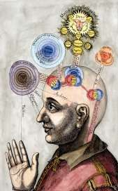 The mind of the microcosm from Robert Fludd Utriusque cosmi... historia, 1619