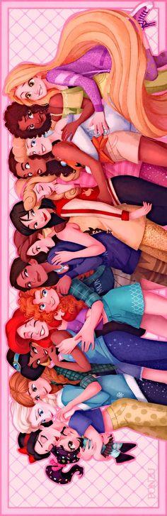 @PONZUxPONZU 🕊💖👑Disney Princess👑💖🕊 祝!シュガーラッシュ2公開  #RalphBreaksTheInternet  Funny Profile, L Anime, Disney Paintings, Disney Princess Art, Wreck It Ralph, Princess Collection, Dreamworks, Slime, Princesses