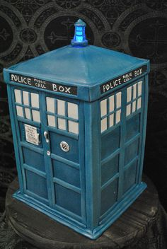TARDIS cake by bleeding heart bakery
