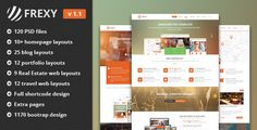 Frexy  Multi-purposes PSD template by frexy   Template Features 120 Layered PSD files (New updated).Hompage design for Travel WebsiteHompage design for Education WebsiteHom