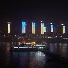 Night Cruise along the river in Chongqing