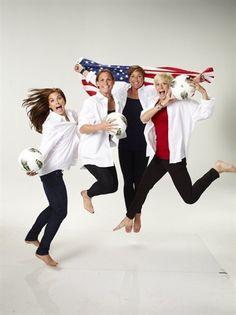 Alex Morgan, Christie Rampone, Abby Wambach & Megan Rapinoe. #USWNT #Olympics2012 #GoldMetal