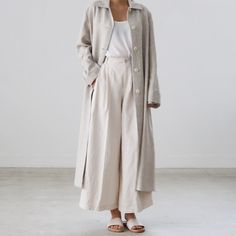 Linen single coat ECKE (@ecke.kr)