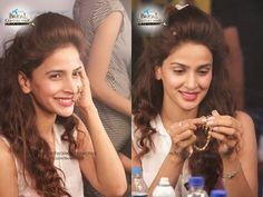 Saba Qamar to walk on the ramp at BCW 2015 today! Back stage Click while getting ready !