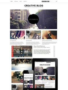 Creative Blog WordPress Responsive. WordPress Blog Themes. $39.00
