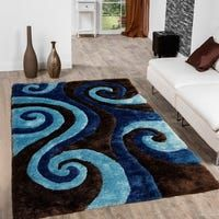 Allstar Chocolate Modern Soft Spiral Design Rug - X Brown, Size x High Pile Rug, Area Rug Runners, Striped Rug, Swirl Design, Home Decor Furniture, Furniture Design, Indoor Rugs, Accent Rugs, Online Home Decor Stores