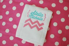 Double Chevron Zig Zag Embroidery Applique Design by FreckledFonts, $2.50