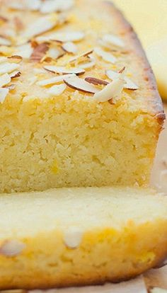 "Lemon Ricotta Cake with Almond Glaze   ""This is One Delicious Cake!! So fresh and sweet!!"""