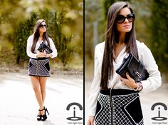 DIY: Balmain inspired skirt (by Crimenes-de-la-Moda M) http://lookbook.nu/look/3391529-DIY-Balmain-inspired-skirt