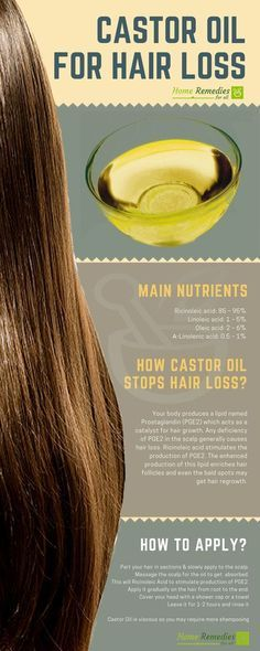 Castor Oil is one of the best home remedies for hair loss. Its regular use will regrow your lost hair and stop further loss.