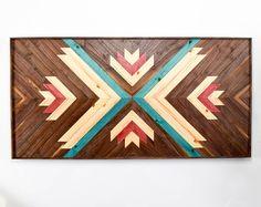 Wood Wall Art   Wooden Wall Art   Geometric Wood Art   Modern Wall Art    Modern Wood Art   Wood Art Wall Hanging   Aztec Art   Wood Artwork