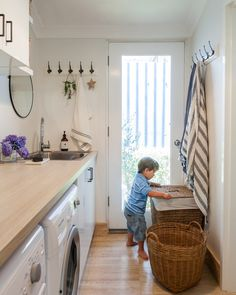 "Our Laundry Renovation (and my Tradie Recommendations) Determine additional details on ""laundry room storage diy cabinets"". Take a look at our web site. Small Laundry Rooms, Laundry Room Organization, Laundry In Bathroom, Basement Laundry, Laundry Tubs, Rental Bathroom, Laundry Closet, Home Renovation, Home Remodeling"