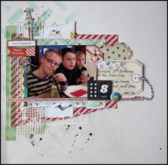 CRATE PAPER Party Day Scrapbook Cover, Love Scrapbook, Birthday Scrapbook, Vintage Scrapbook, Christmas Scrapbook, Scrapbook Page Layouts, Scrapbook Paper Crafts, Scrapbook Cards, Anna Craft