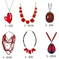 Red Necklaces - Your Pick? by jacqueline-jordan on Polyvore
