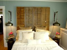 Repurposing done right: Salvaged door and shutter headboards | House and Home